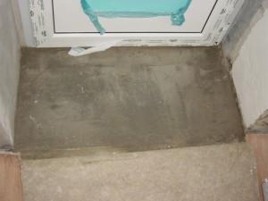 Делаем небольшой бетонный порог для дома